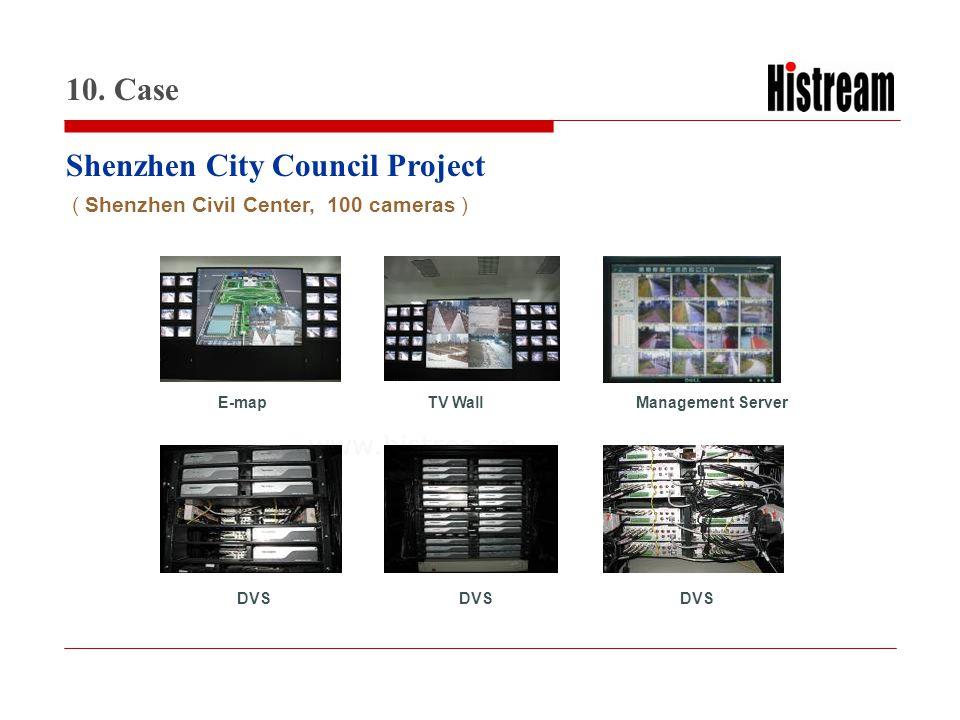 www.histrea.cn DVS Management ServerTV WallE-map Shenzhen City Council Project 10. Case ( Shenzhen Civil Center, 100 cameras )