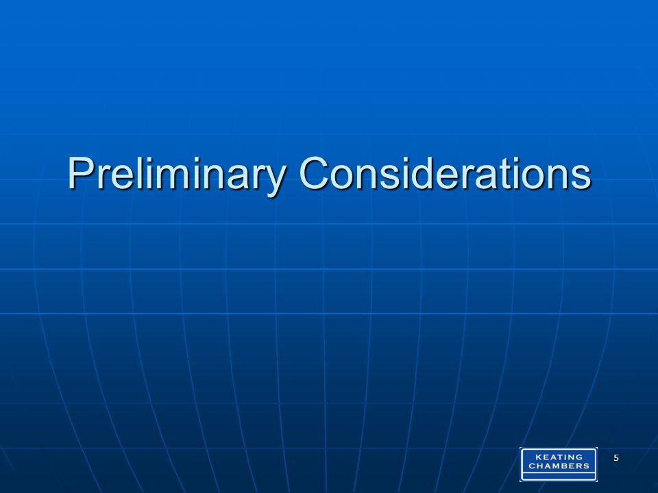 Preliminary Considerations 5