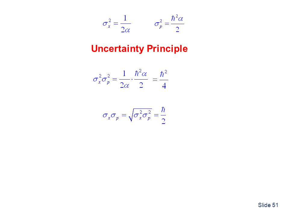 Slide 51 Uncertainty Principle