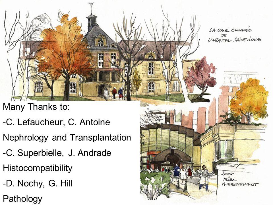 Many Thanks to: -C. Lefaucheur, C. Antoine Nephrology and Transplantation -C.