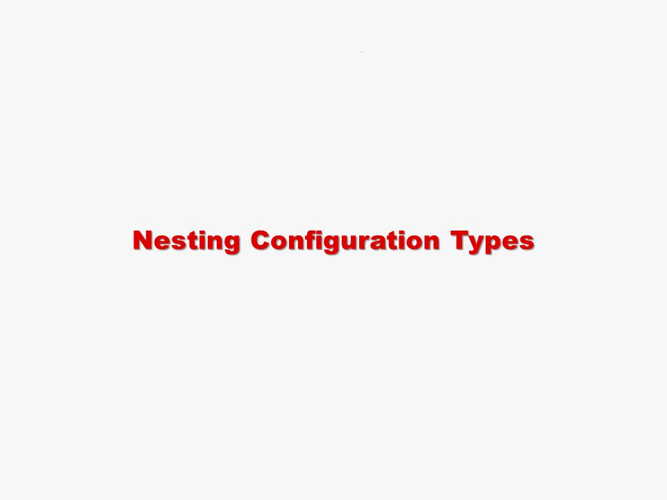 Nesting Configuration Types