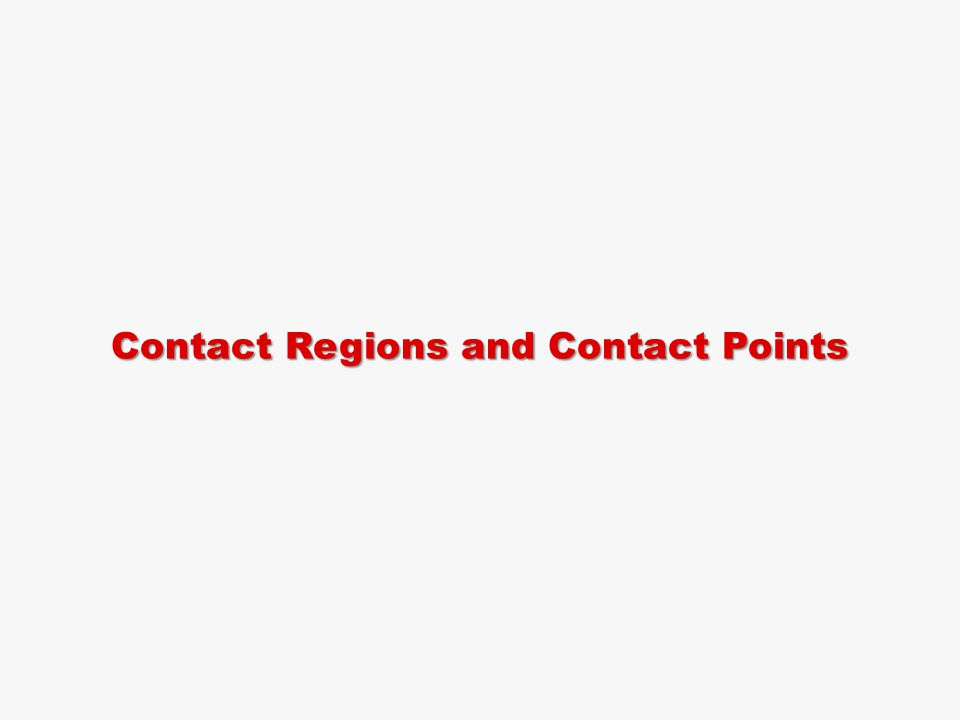 Contact Regions and Contact Points