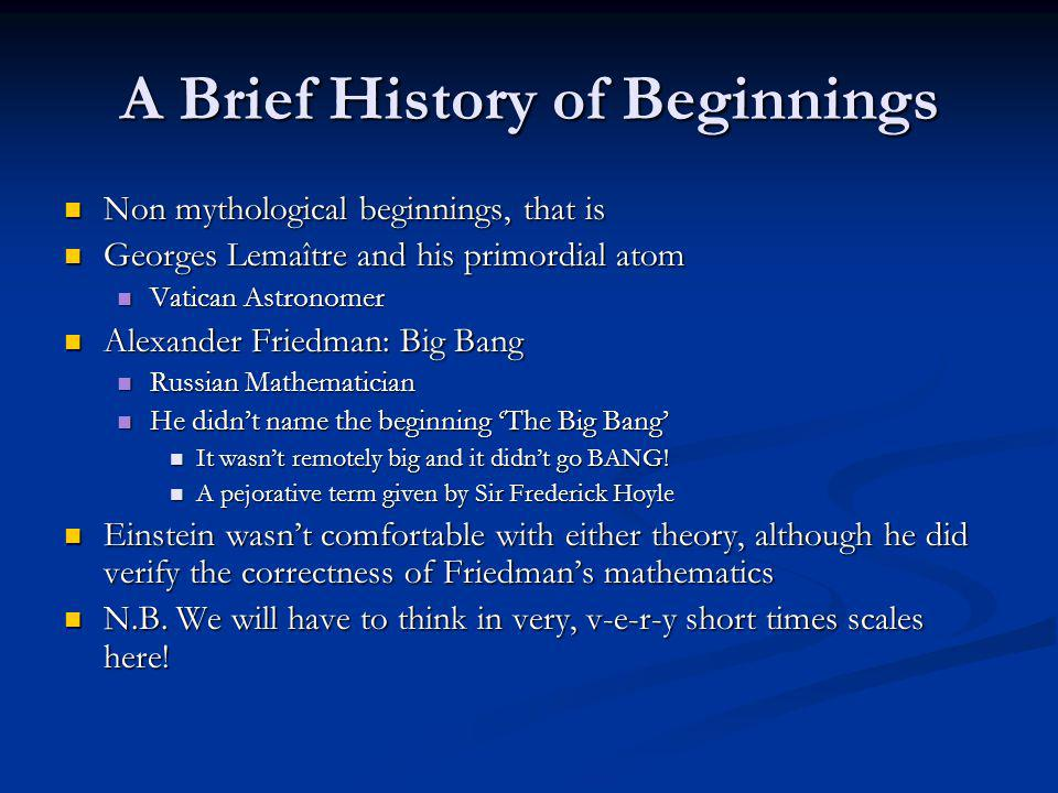 Stelliferous Era From about 380,000 years A.B.B (after the Big Bang) until now From about 380,000 years A.B.B (after the Big Bang) until now Galaxies at about 1 billion A.B.B Galaxies at about 1 billion A.B.B Average temp = 3K Average temp = 3K The era of stars, galaxies, and us The era of stars, galaxies, and us What weve talked about most of the semester.