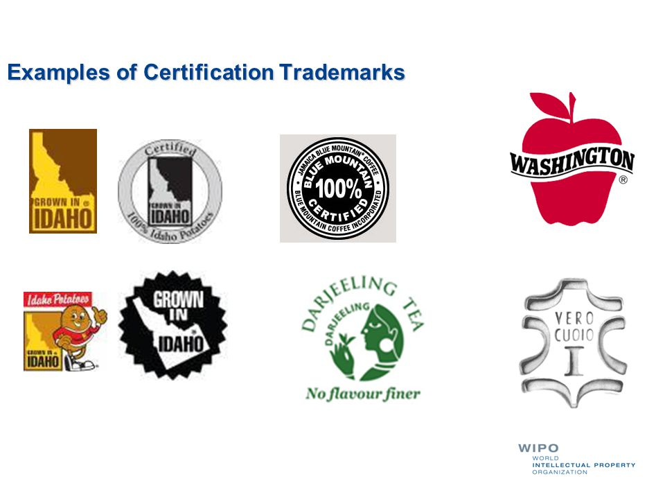 Examples of Certification Trademarks
