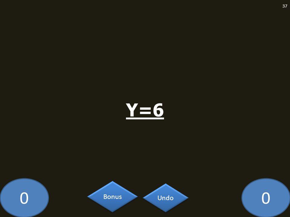 00 Y=6 37 Undo Bonus