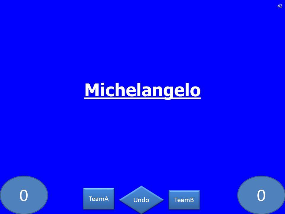 00 42 TeamA TeamB Undo Michelangelo