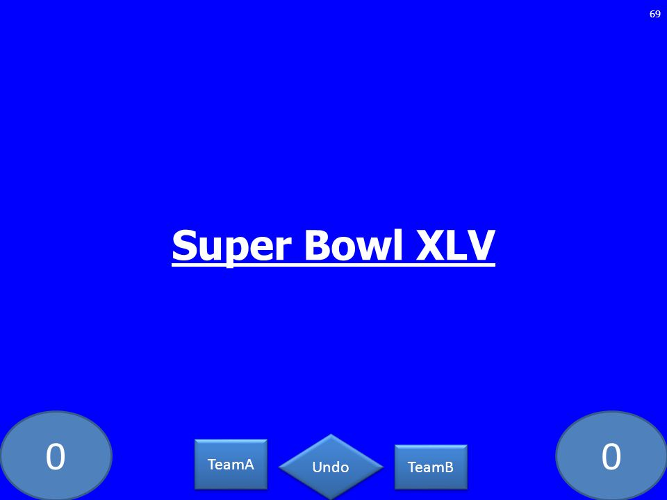00 Super Bowl XLV 69 TeamA TeamB Undo