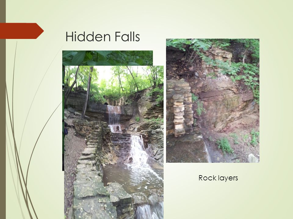 Hidden Falls Rock layers