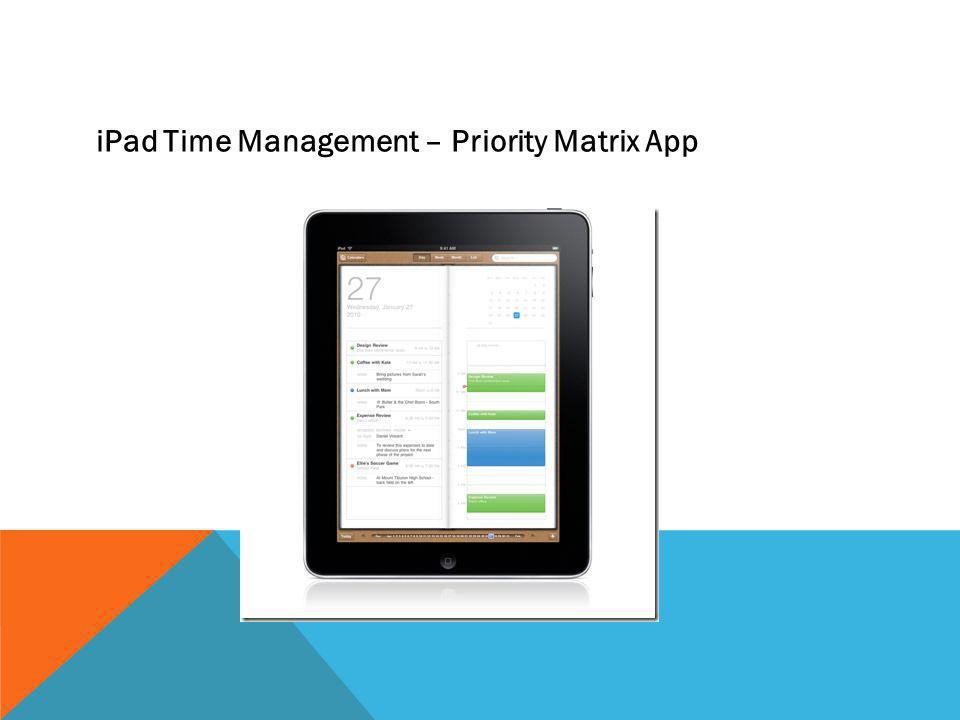 iPad Time Management – Priority Matrix App