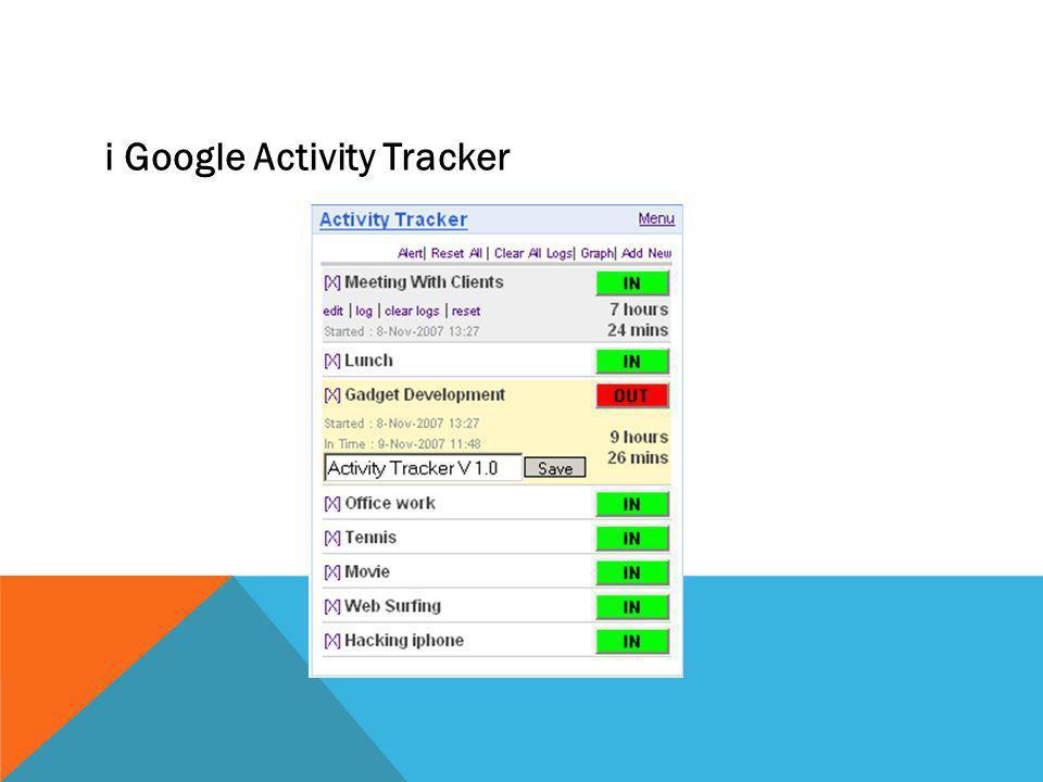 i Google Activity Tracker