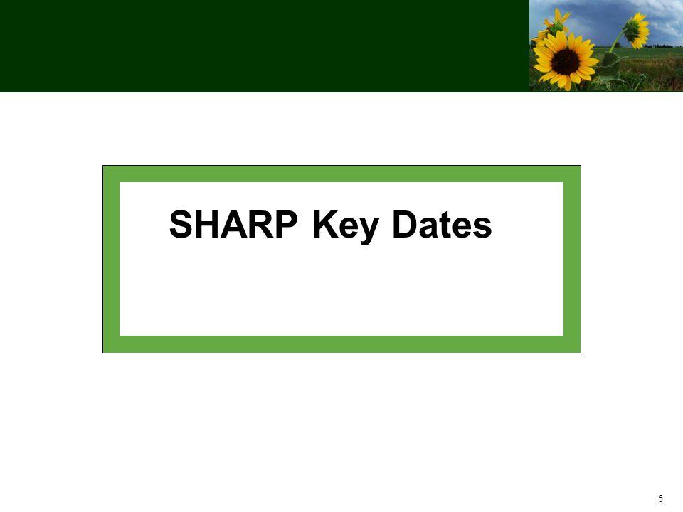 5 SHARP Key Dates