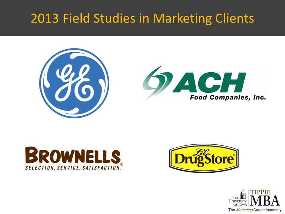 2013 Field Studies in Marketing Clients