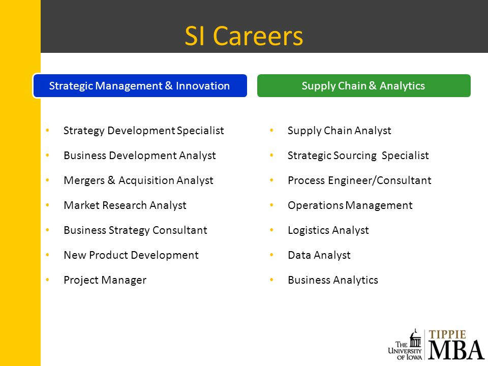 SI Careers Strategy Development Specialist Business Development Analyst Mergers & Acquisition Analyst Market Research Analyst Business Strategy Consul