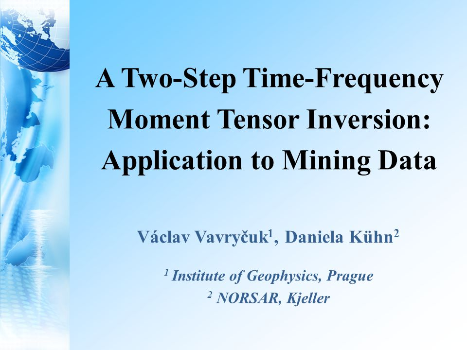 Motivation To be able to invert for focal mechanisms and moment tensors: accurate robust and stable Difficulties: complex mining environment complex source-time function non-double-couple moment tensors Motivation Waveform modelling MTI strategy Summary Synthetic tests Application to real data