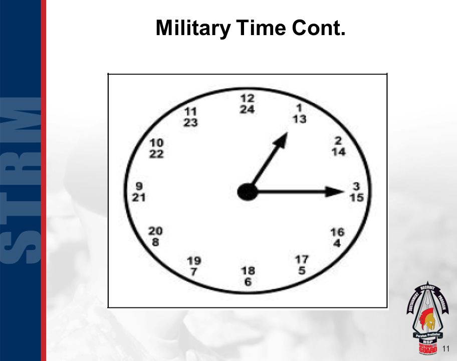 11 Military Time Cont.