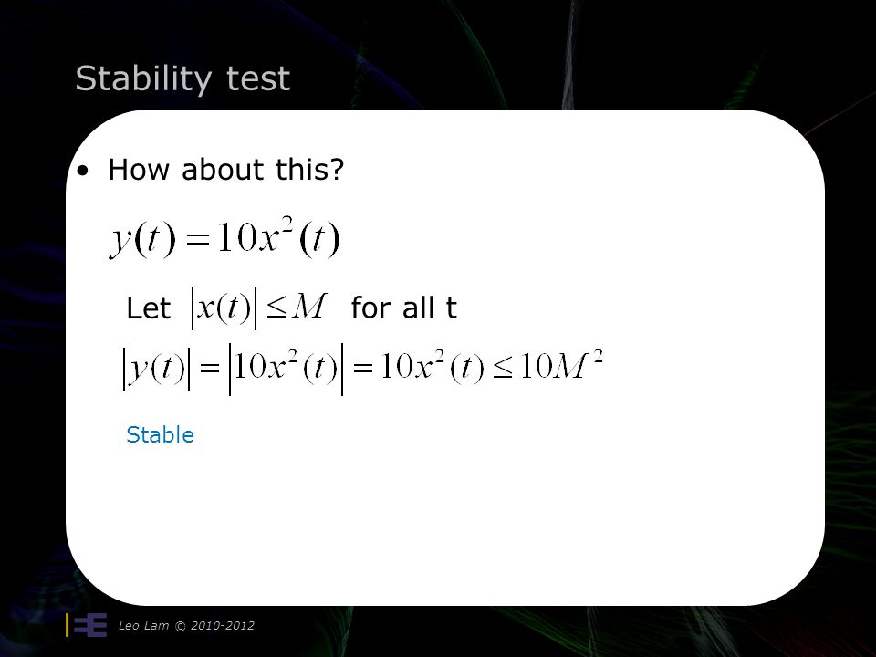 Stability test How about this, your turn.