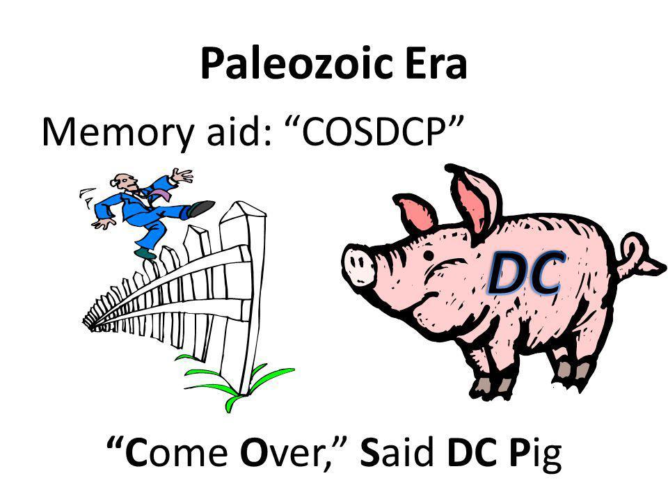 Paleozoic Era Memory aid: COSDCP
