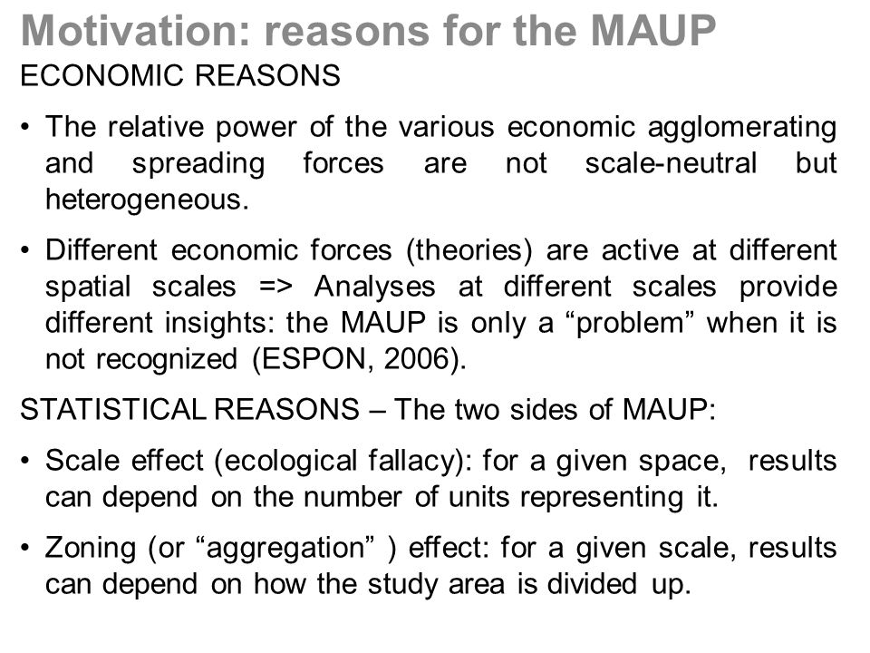 Is a general form of the wage equation robust to different aggregation levels of European data and different non spatial econometric specifications?: –Long-term relationships: cross-section (variables in levels) –Short-term relationships: Panel data with fixed effects (growth rates) Is the MAUP affecting the estimation of these relationships with spatial econometric models.