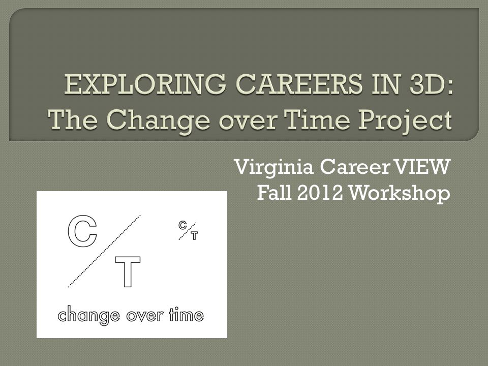 Virginia Career VIEW Fall 2012 Workshop