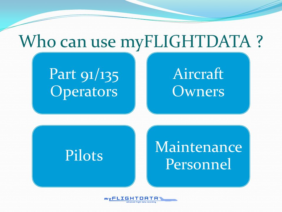 What does myFLIGHTDATA do.