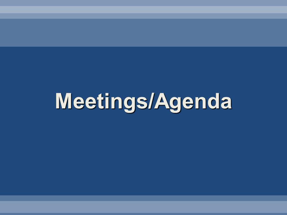 Meetings/Agenda
