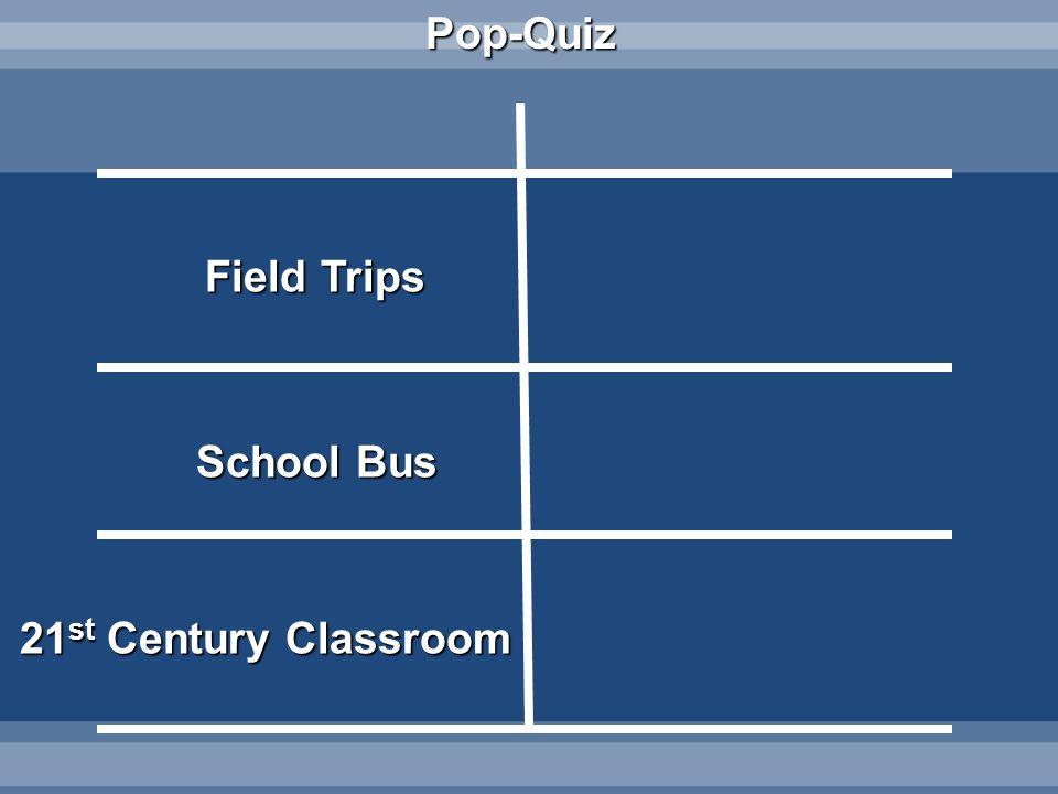 Pop-Quiz Field Trips School Bus 21 st Century Classroom