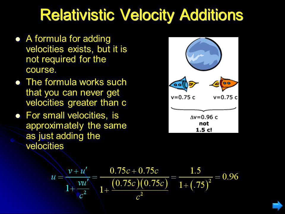 Velocity Additions Do Not Apply to Light Even if you are moving away from your friend at a very high velocity, you will both see a light beam moving a
