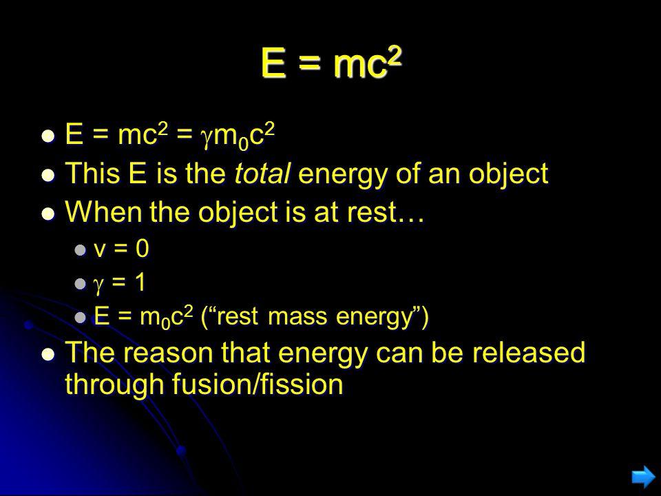 Relativistic Mass Rest mass Actually written