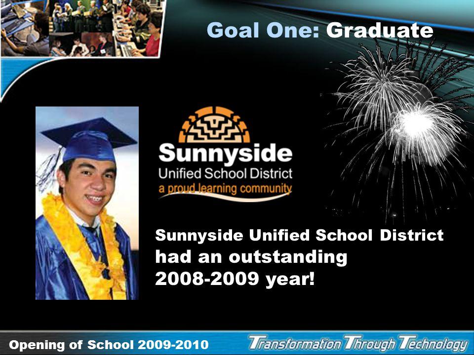 Opening of School 2009-2010 Project Graduation: The Digital Advantage