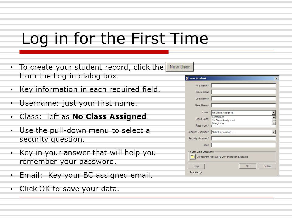 Login Instructions Double click the Keyboarding Pro DELUXE Icon.
