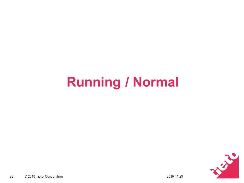 © 2010 Tieto Corporation Running / Normal 262010-11-29