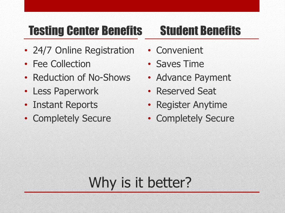 Features and Tools Payment processing – Visa and MasterCard Student Acknowledgment Automated student email confirmation receipt Built-in registration deadlines Seat limits (no overbooking)