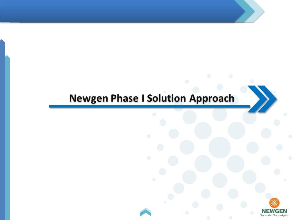 Newgen Phase I Solution Approach