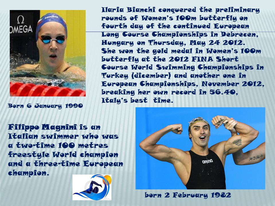 Ilaria Bianchi conquered the preliminary rounds of Womens 100m butterfly on fourth day of the continued European Long Course Championships in Debrecen