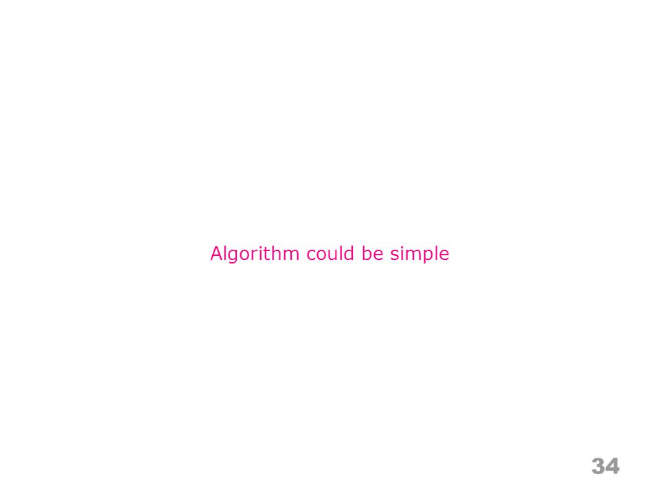 34 Algorithm could be simple