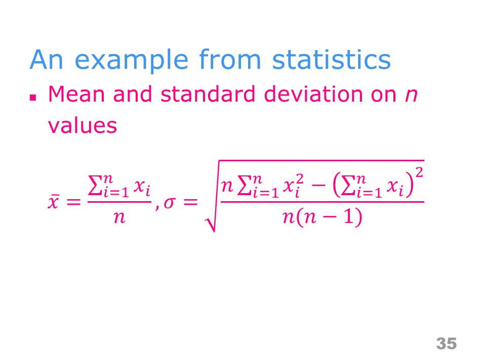 An example from statistics 35