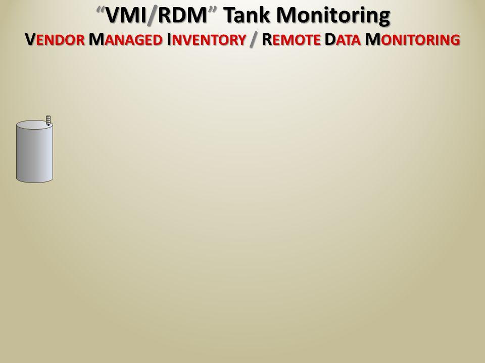 V ENDOR M ANAGED I NVENTORY / R EMOTE D ATA M ONITORING VMI/RDM Tank MonitoringVMI/RDM Tank Monitoring