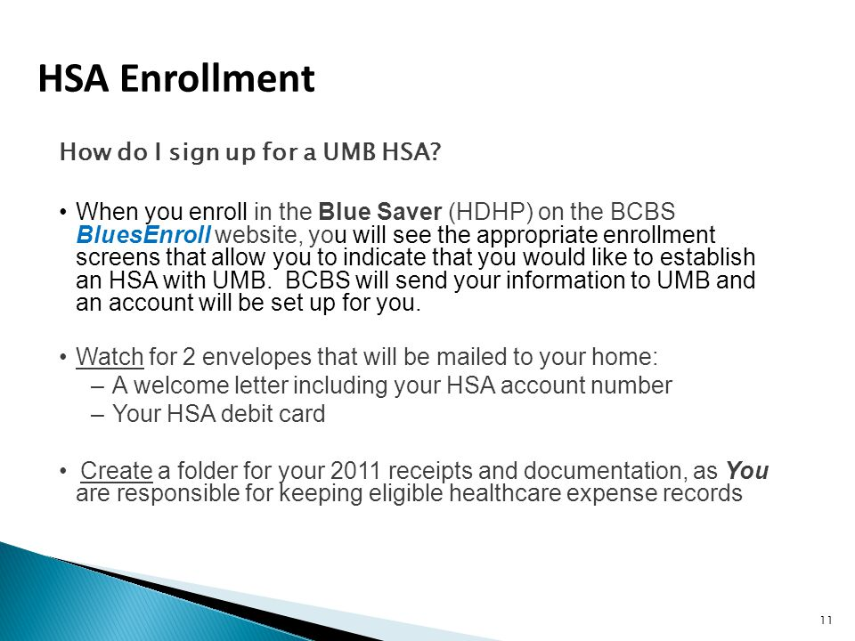 How do I sign up for a UMB HSA.