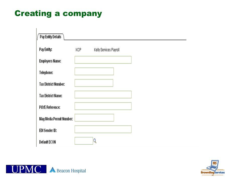 UPMC Creating a company