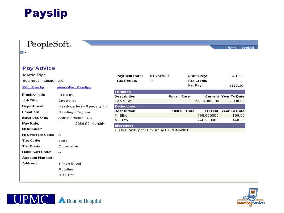 UPMC Payslip