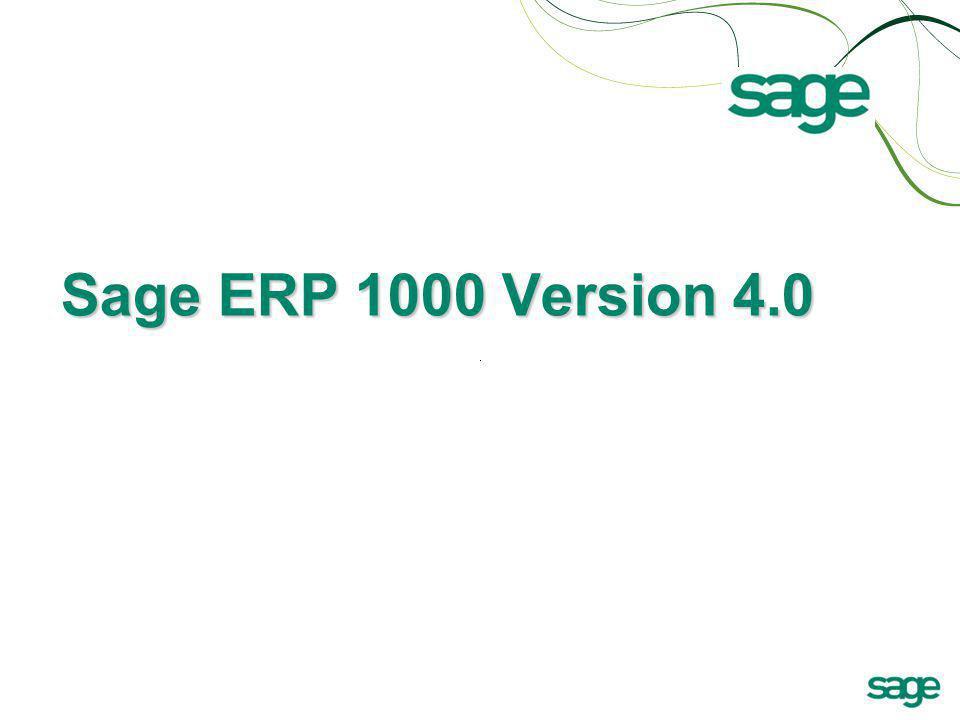 Sage ERP 1000 Version 4.0
