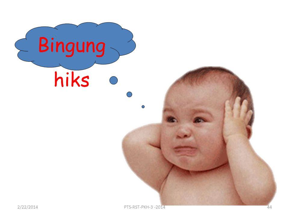 Bingung hiks 2/22/201444PTS-RST-PKH-3 -2014