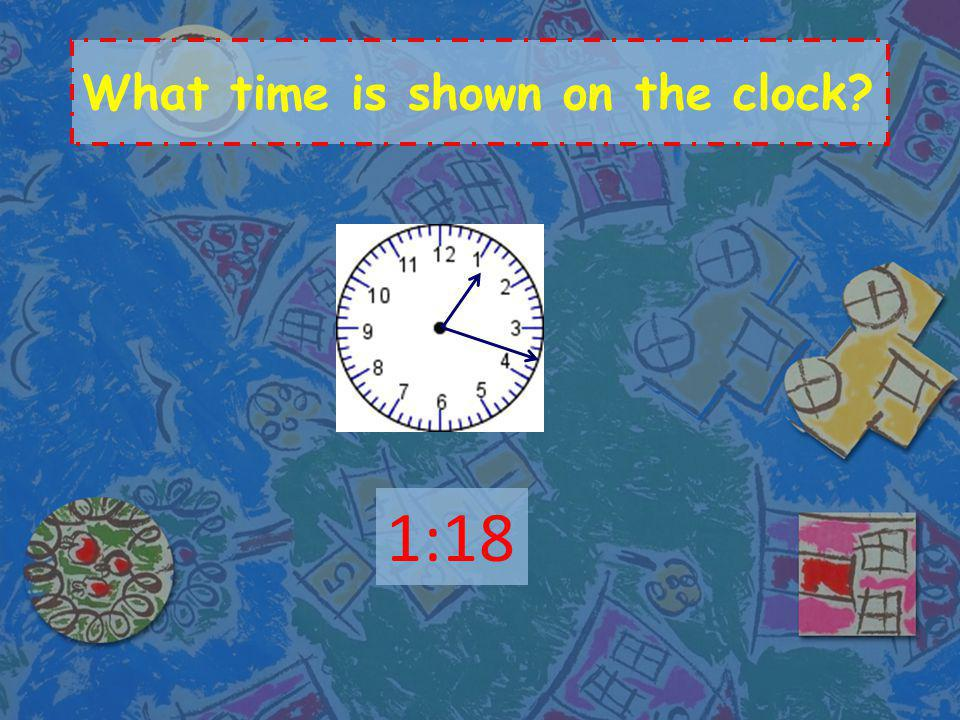 What time is shown on the clock? 3:30