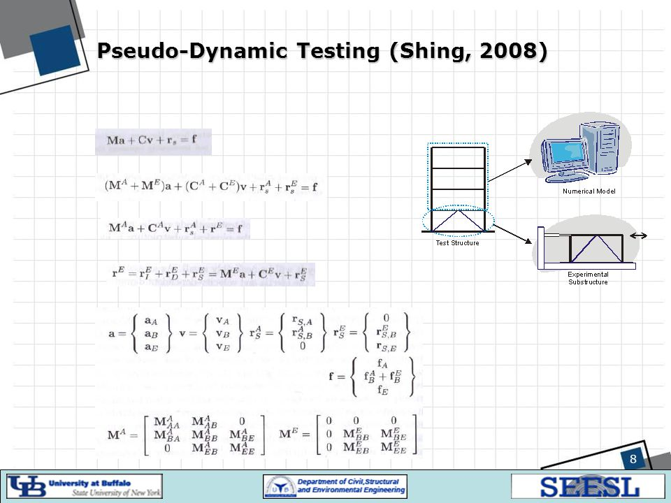 19 Development Challenges Delay in servo-hydraulic actuators –How to compensate delay: First, measure the delay amount (in order of a few milliseconds) Extrapolate displacements: send a command ahead of desired displacement to the actuator Or modify forces: extrapolate force measurements, or seek the desired displacements in the force and displacement measurements