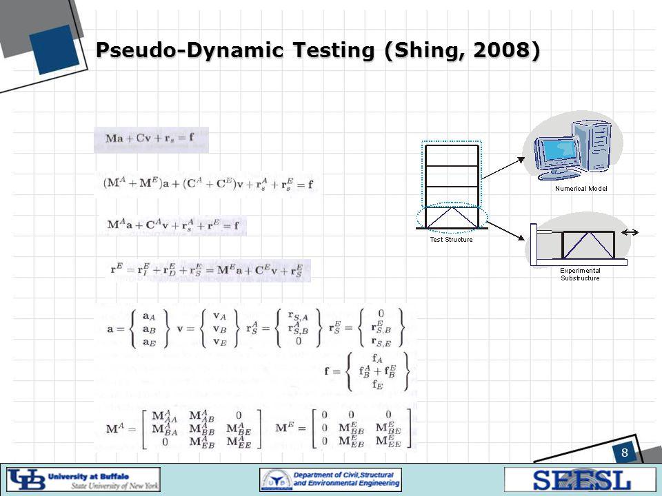 Pseudo-Dynamic Testing (Shing, 2008) 8