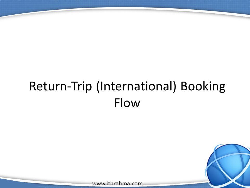 www.itbrahma.com 1 Return-Trip (International) Booking Flow