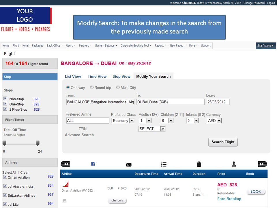 www.itbrahma.com 1 YOUR LOGO Search Result with Filters to Refine the Search Filters