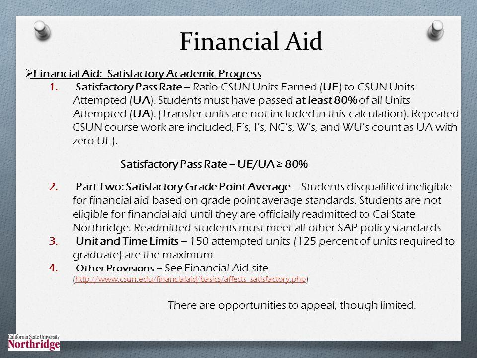 Financial Aid: Satisfactory Academic Progress 1.