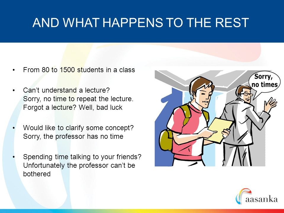 From 80 to 1500 students in a class Cant understand a lecture.