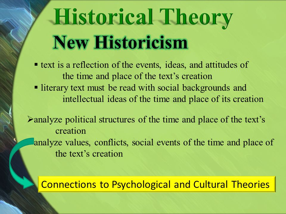 text is a reflection of the events, ideas, and attitudes of the time and place of the texts creation literary text must be read with social background